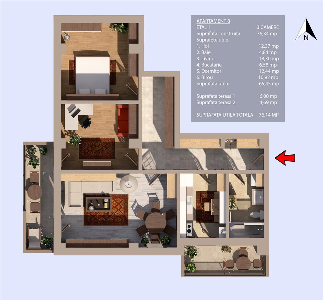 Plan etaj 1
