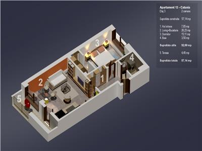 Dezvoltator, Oferta 2 camere, 60 mp, 3/4, lift, bloc 2019, Zona case