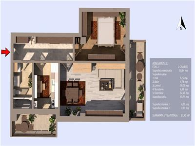 Valea Oltului, bloc 2020, oferta 2 camere, 2 terase, et.2/3, zona case